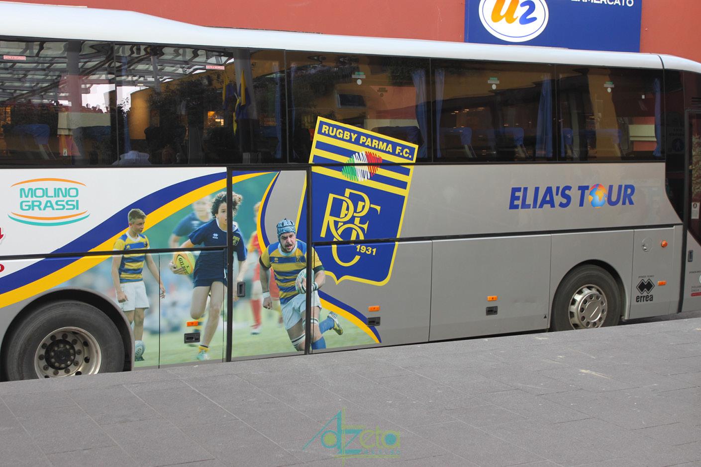 Rugby parma bus grafica